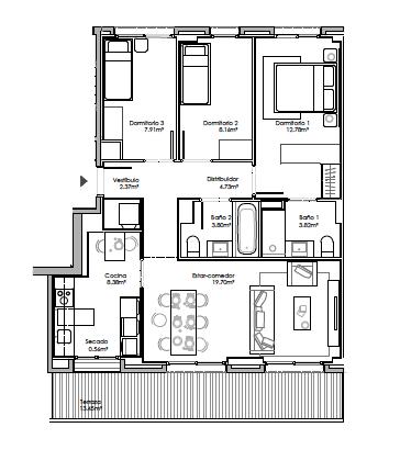 Martorell – 3 habitaciones